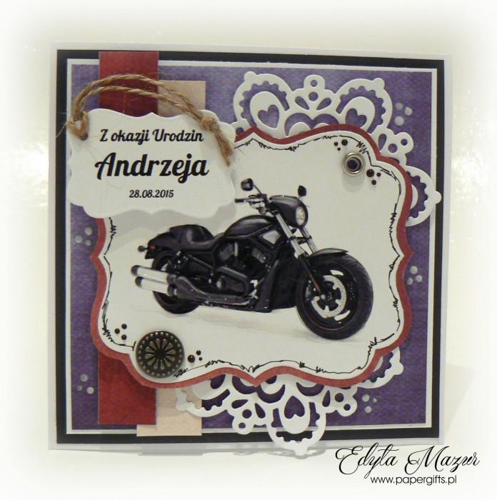 Kartka z motorem dla Andrzeja