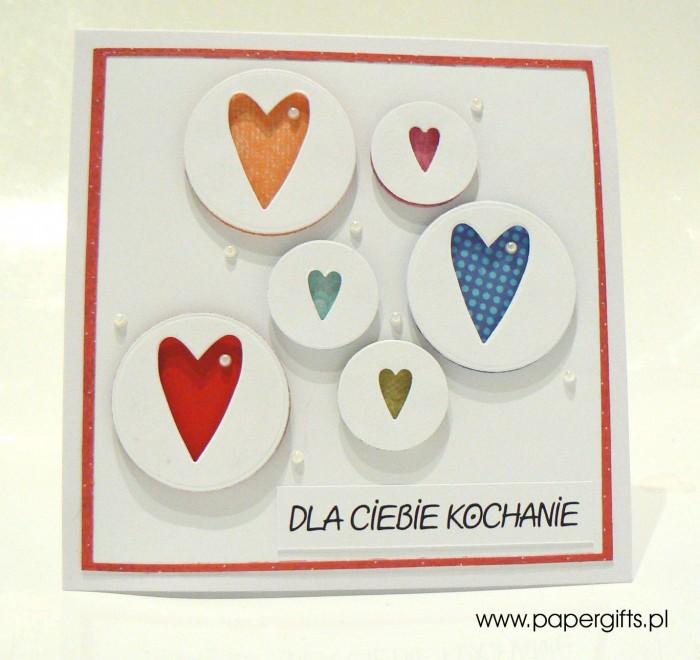 Kolorowe serca w bańkach - Walentynka