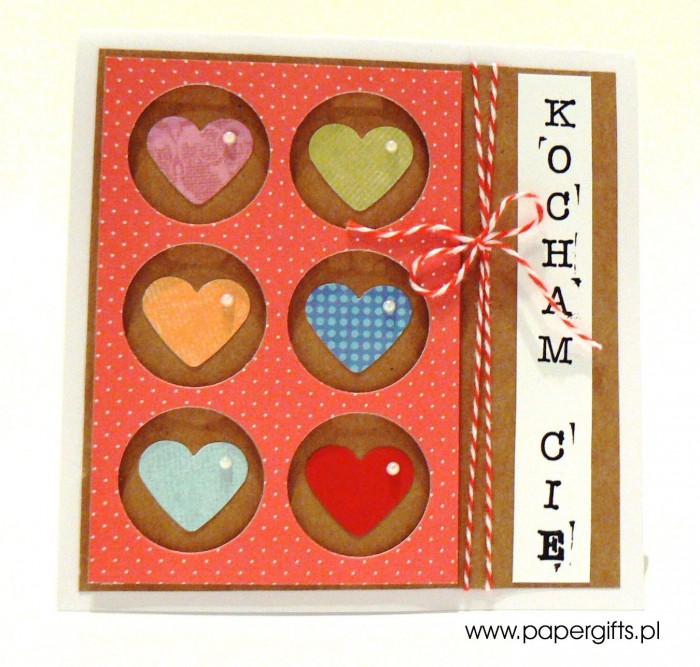 Kolorowe serca w kółkach - Walentynka