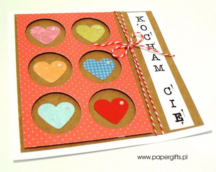 Kolorowe serca w kółkach - Walentynka1