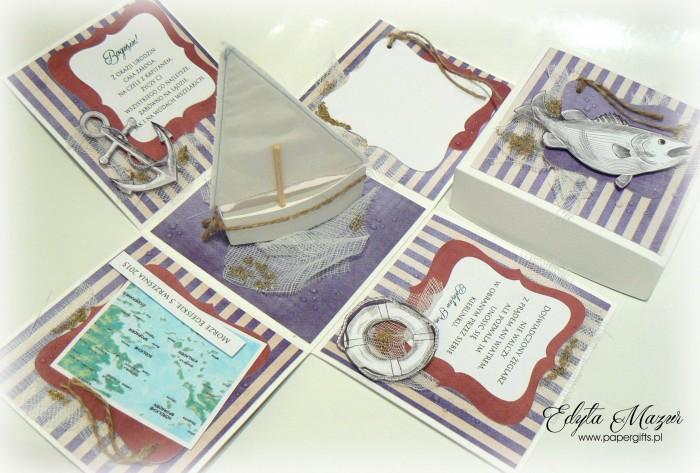Morski box z jachtem na urodziny Bogusia