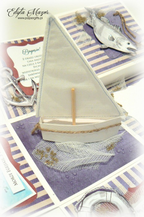Morski box z jachtem na urodziny Bogusia1