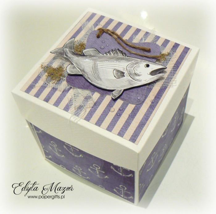 Morski box z jachtem na urodziny Bogusia2