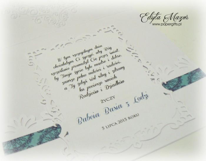 Niebieski wianek - Pamiątka chrztu Iwa1