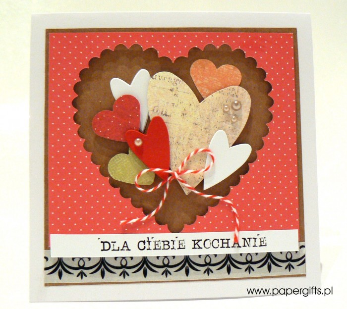 Serca w sercu - Walentynka