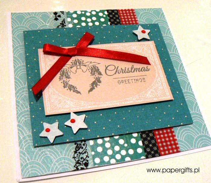 Turkusowa z wiankiem - kartka bożonarodzeniowa1