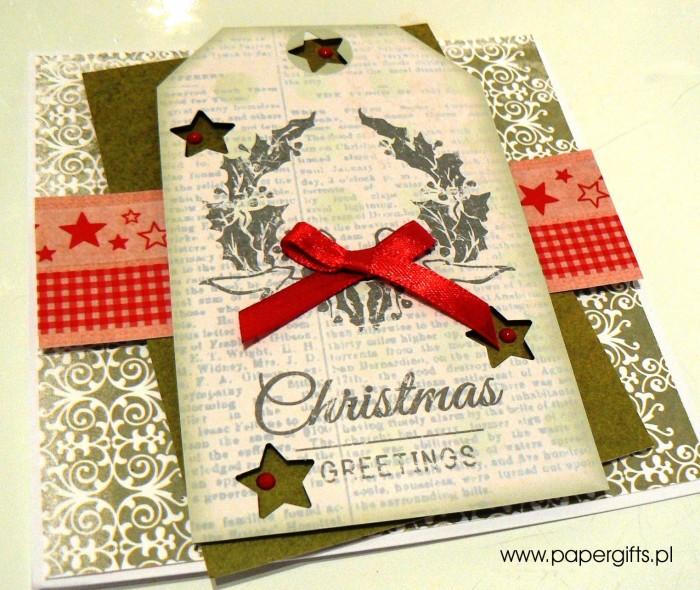 Zielona z wiankiem - kartka bożonarodzeniowa1