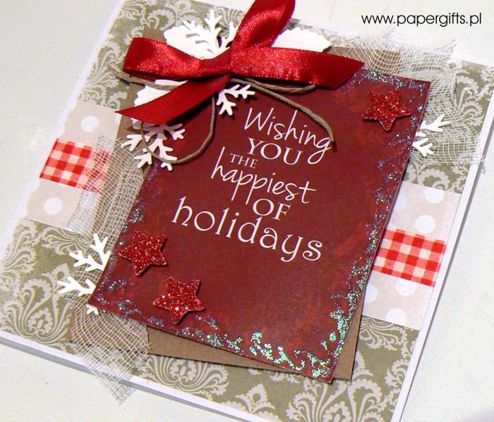 Zielono-czerwona - kartka bożonarodzeniowa1