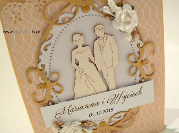 Kremowo-złota katka ślubna dla Marianny i Wojciecha1