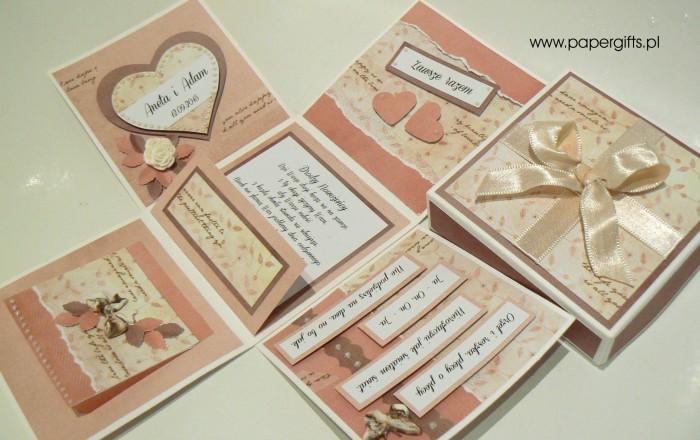 Magiczny box ślubny z sercem dla Anety i Adama