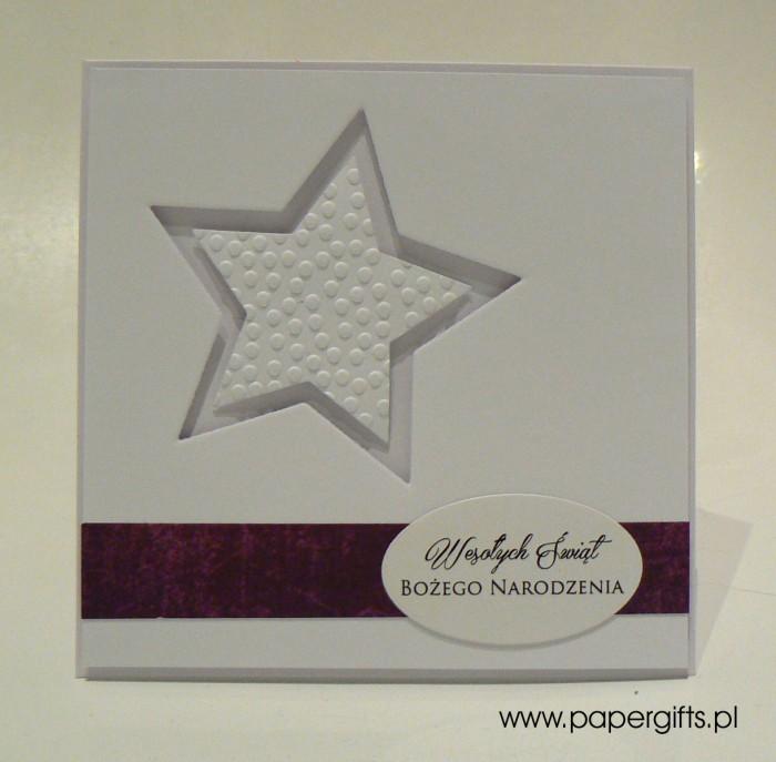 Biała gwiazda - kartka bożonarodzeniowa1
