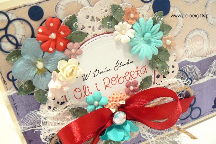 Morska kartka ślubna dla Oli i Roberta1