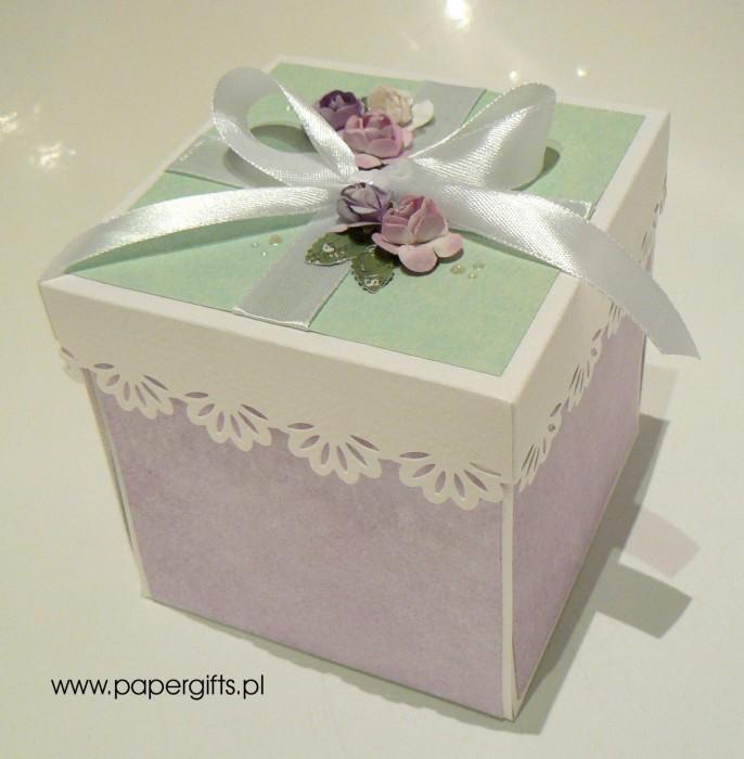 Wrzosowo-pistacjowy box ślubny dla Anny i Tomasza