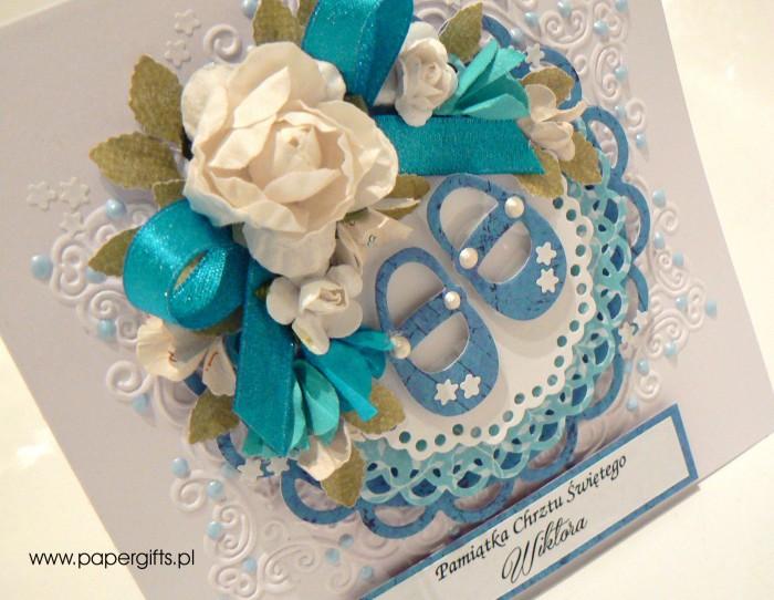 Niebieskie buciki - Pamiątka Chrztu Wiktora1