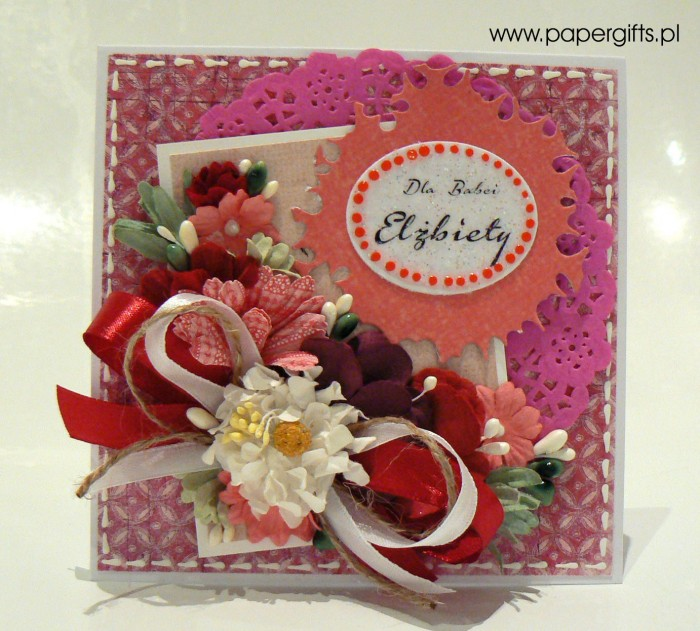 Różowo-biały bukiet - Dla Babci Elżbiety