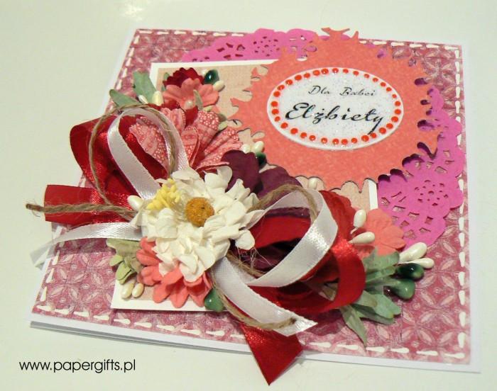 Różowo-biały bukiet - Dla Babci Elżbiety1