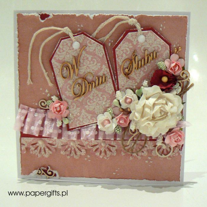Dwa tagi - kartka na ślub