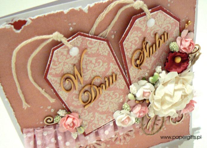 Dwa tagi - kartka na ślub1